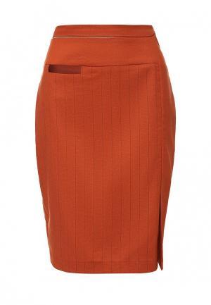 Юбка D.VA. Цвет: оранжевый