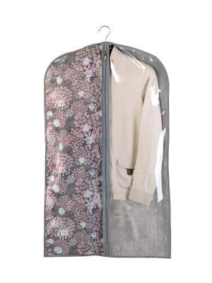 Чехол для одежды большой 60х130см Серебро 902 COFRET. Цвет: белый,серый,розовый