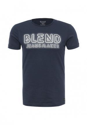 Футболка Blend. Цвет: синий