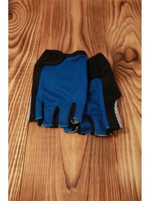 Велоперчатки SilaPro. Цвет: синий