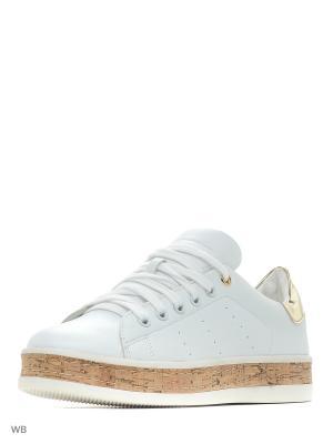 Ботинки Roccobarocco. Цвет: белый