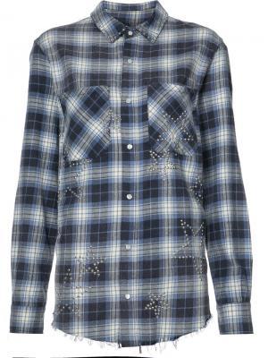 Check shirt Amiri. Цвет: синий