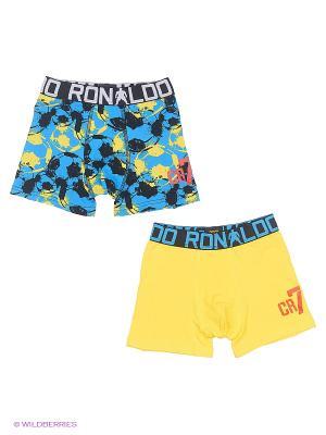 Трусы CR7 Cristiano Ronaldo. Цвет: желтый, голубой