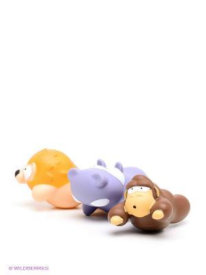 Игрушки для ванной Джунгли Amico. Цвет: коричневый, сиреневый