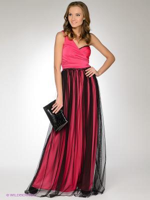 Платье FRENCH HINT. Цвет: розовый, черный