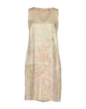 Короткое платье NICE THINGS by PALOMA S.. Цвет: слоновая кость