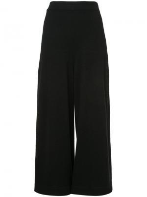 Укороченные трикотажные брюки Rosetta Getty. Цвет: чёрный