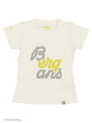 Футболка Bergans. Цвет: белый
