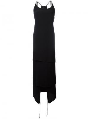 Длинное расклешенное платье Barbara I Gongini. Цвет: чёрный