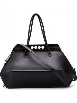 Спортивная сумка-тоут Khourianbeer. Цвет: чёрный
