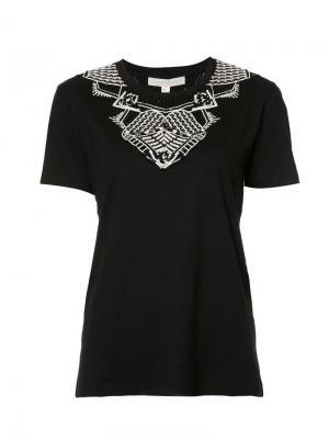 Декорированная футболка Jonathan Simkhai. Цвет: чёрный
