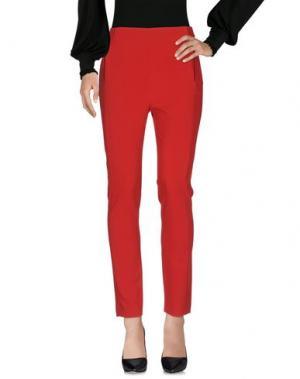 Повседневные брюки HANITA. Цвет: красный
