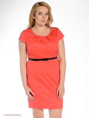 Платье Klimini. Цвет: коралловый, черный