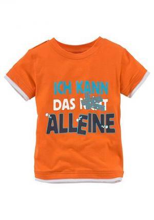 Футболка CFL. Цвет: оранжевый