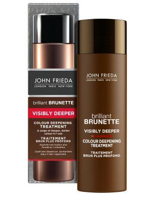 Brilliant Brunette Visibly Deeper Средство для создания насыщ и глубокого цвета темных волос, 150 мл John Frieda. Цвет: бежевый