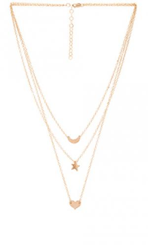 Ожерелье wanderlust Mimi & Lu. Цвет: металлический золотой