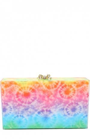 Клатч Printed Pandora с косметичкой Charlotte Olympia. Цвет: разноцветный