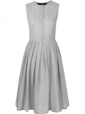 Расклешенное полосатое платье Martin Grant. Цвет: синий