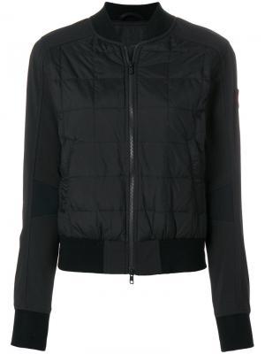 Стеганая куртка на молнии Canada Goose. Цвет: чёрный