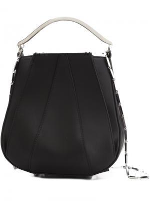 Panelled crossbody bag Eddie Borgo. Цвет: чёрный