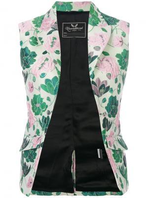 Жаккардовый жилет с цветочным принтом Unconditional. Цвет: зелёный