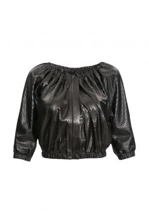 Кожаный жакет 154833 Sussex. Цвет: черный