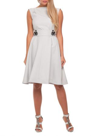 Платье Gloss. Цвет: светло-серый, черный горох