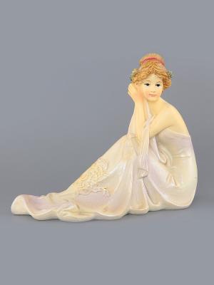 Статуэтка Лилиан Elan Gallery. Цвет: молочный