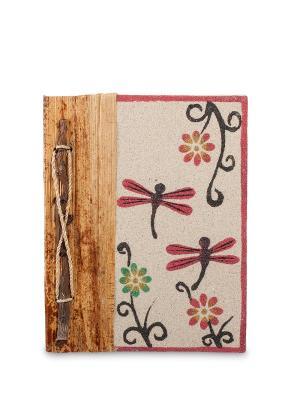 Блокнот Стрекозы ср. (о.Бали) Decor & gift. Цвет: бежевый