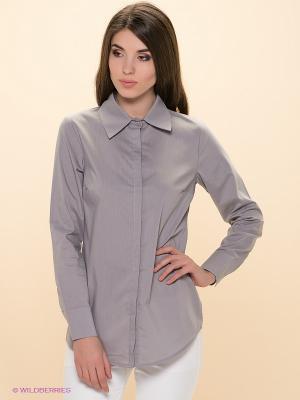 Рубашка ELENA FEDEL. Цвет: серый