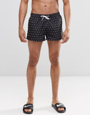 Swells Короткие шорты в горошек. Цвет: черный