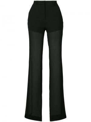Полупрозрачные брюки Vionnet. Цвет: чёрный