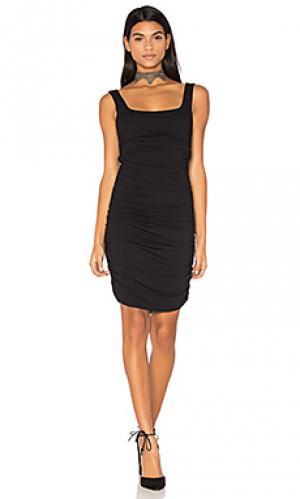 Облегающее мини-платье twenty. Цвет: черный