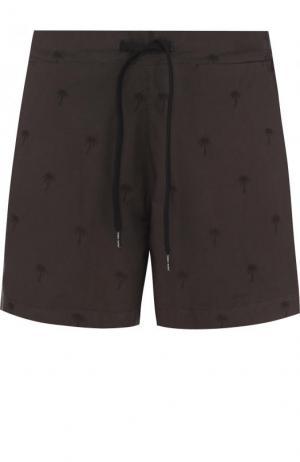 Хлопковые плавки-шорты с карманами Tomas Maier. Цвет: темно-зеленый