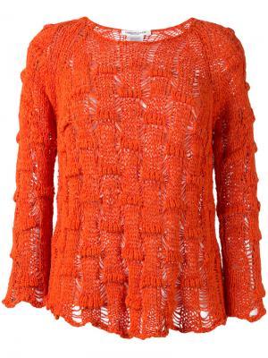 Джемпер толстой вязки Lamberto Losani. Цвет: жёлтый и оранжевый