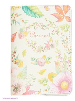 Обложка для паспорта BB1. Цвет: бежевый, белый