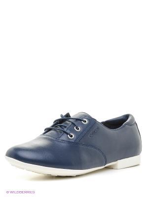 Туфли GEOX. Цвет: синий