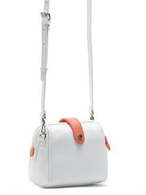 Сумка Palio. Цвет: белый, оранжевый
