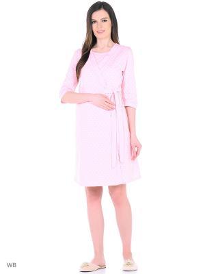 Комплект женский для беременных и кормящих Hunny Mammy. Цвет: розовый, белый
