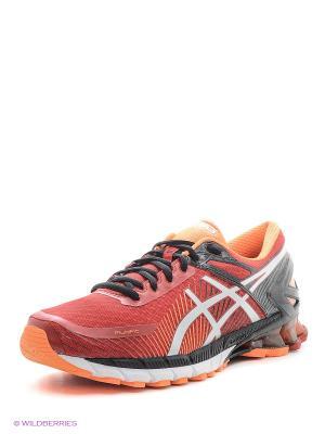 Спортивная обувь GEL-KINSEI 6 ASICS. Цвет: красный, оранжевый, серый