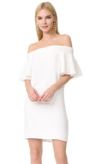 Мини-платье с оборчатыми рукавами Brandon Maxwell. Цвет: золотой