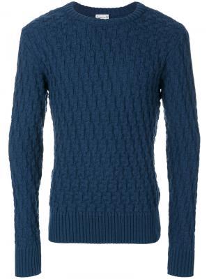 Текстурированный джемпер S.N.S. Herning. Цвет: синий