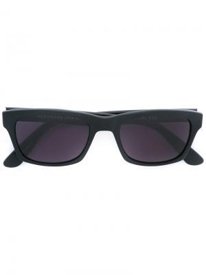 Солнцезащитные очки в квадратной оправе Masunaga. Цвет: чёрный
