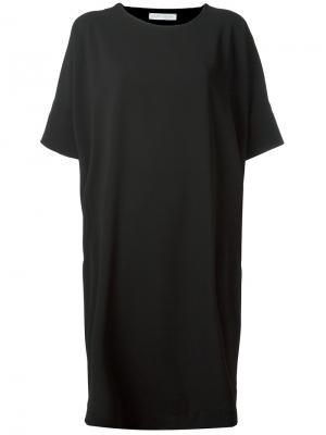 Платье с воротником на спине Société Anonyme. Цвет: чёрный
