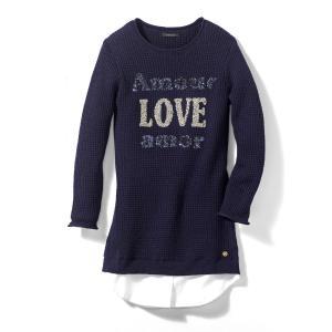Платье-пуловер 3 - 14 лет IKKS JUNIOR. Цвет: темно-синий