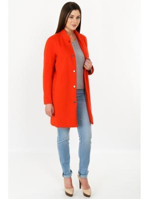 Пальто Finn Flare. Цвет: светло-оранжевый