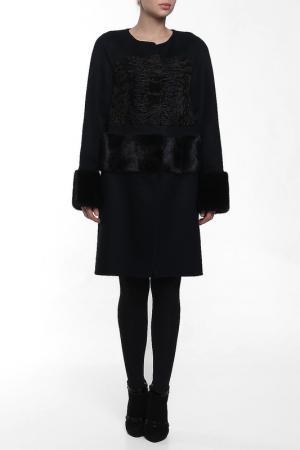 Пальто Regalia. Цвет: черный