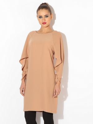Платье TuttoBene. Цвет: бежевый