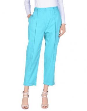 Повседневные брюки GAETANO NAVARRA. Цвет: бирюзовый