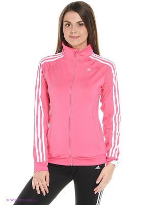 Кофта GB TRACK TOP Adidas. Цвет: розовый, белый